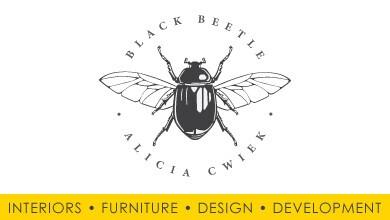 Black Beetle Design Logo