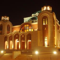 Loizides Architects Architects Agia Sophia Church Project By Night Cultural Buildings Project