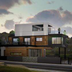 Architecrutal Dedign For Two Storey House In Ayios Athanasios