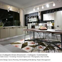 Black Beetle Design Ideacasa Showroom Commercial Interior Design Kitchen View