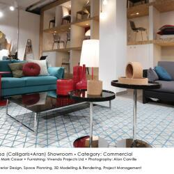 Black Beetle Design Ideacasa Showroom Commercial Interior Design Lounge View