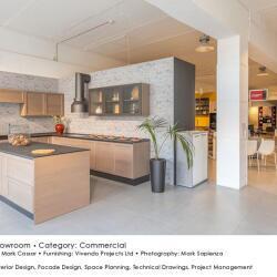 Black Beetle Design Krea Showroom Commercial Interior Design Kitchens View