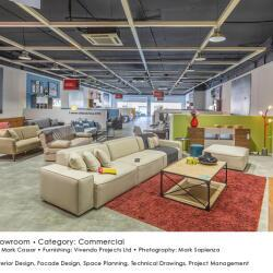 Black Beetle Design Krea Showroom Commercial Interior Design Living Areas View