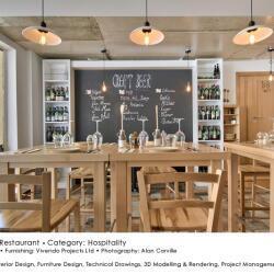 Black Beetle Design Meraki Restaurant Hospitality Interior Design Side View