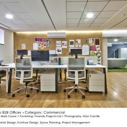 Black Beetle Design Vivendo B2b Offices Commercial Interior Design Coworking Station